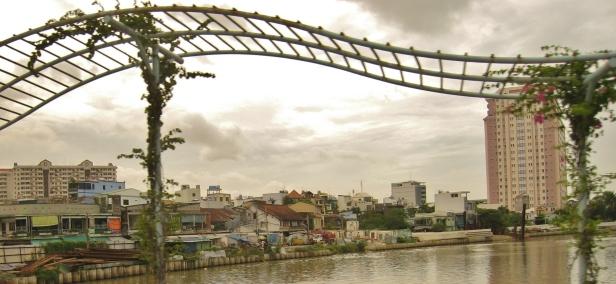 Trellis above a bridge in Saigon