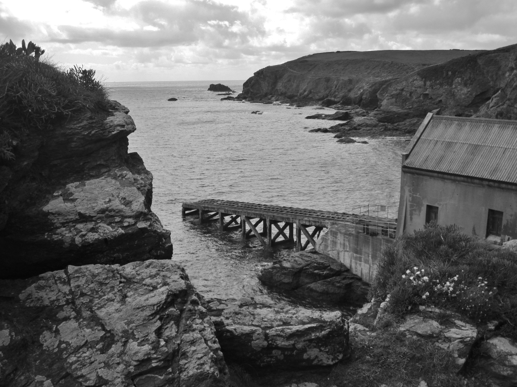 On the way down to Polpeor Cove and the old lifeboat station