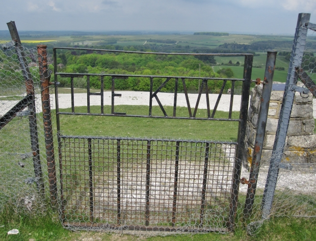 Once you've trekked up the hill you can access the site through this gate