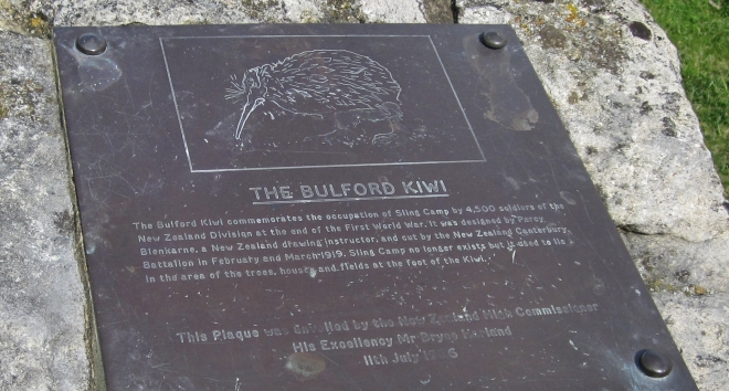 Plaque inside the kiwi enclosure