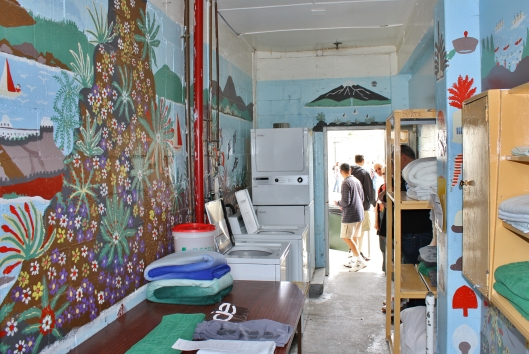The laundry walls were one big mural