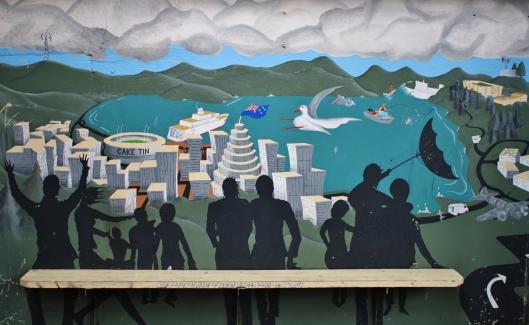 Wellington harbour and CBD
