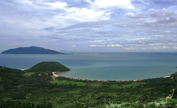 Looking out to Da Nang Bay and Son Tra Island