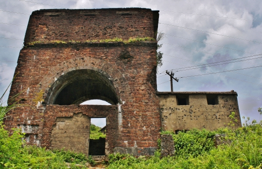 The Chinese fortifications were added to by the French in 1826 and are peppered with bullet holes