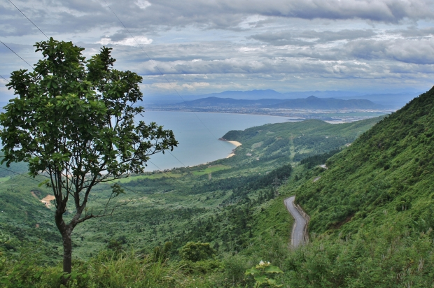 At the top of the Pass looking back to Danang