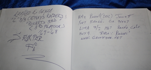 Visitor book, Khe Sanh museum