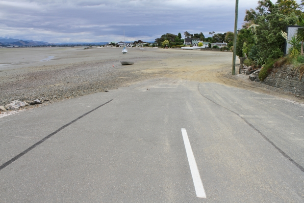 At low tide on this side of the peninsula the road involves a short section of driving over sand