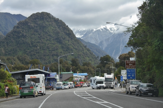 Driving into Franz Josef