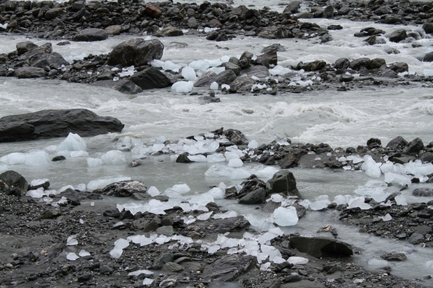 Glacial ice in the Fox River