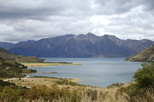 Western arm of Lake Hawea from the Neck