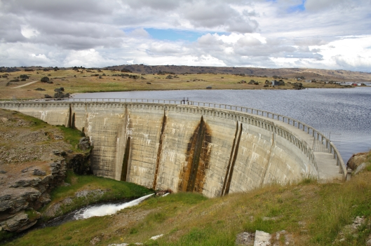 And here is the actual dam