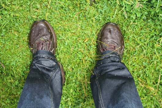 Couldn't avoid the wet grass, hopefully did avoid the sheep poop