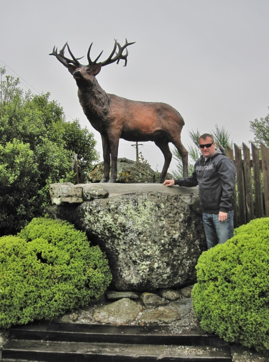 One is Mike, the other is the Mossburn stag (there because NZ's first deer farm was established at Mossburn)