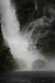 Doubtful Sound - waterfall
