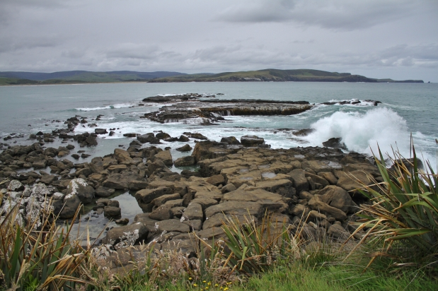 Here is a great place to watch surf crash against the rocky coastline