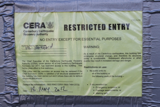 CERA notice, Christchurch