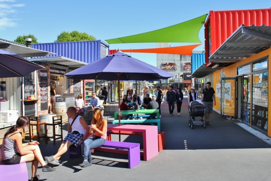 This container mall (named Re:START) was set up to help bring life back to the CBD. It had a great vibe when we walked through