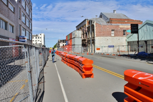 Temporary footpaths, Christchurch