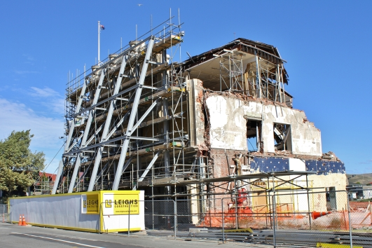 Damaged building, Christchurch