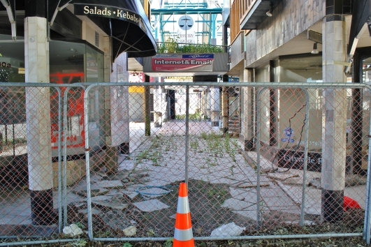 Damaged mall, Christchurch