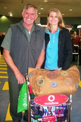 Mum and dad met me during transit in Auckland