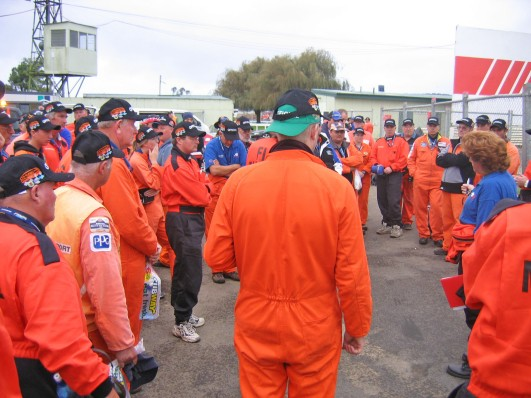 Marshals' briefing