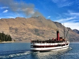 We took a spin on the TSS Earnslaw, the largest coal-fired steamship in the Southern Hemisphere