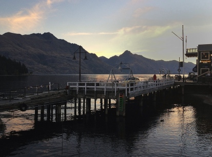 Evening skies over Lake Wakatipu