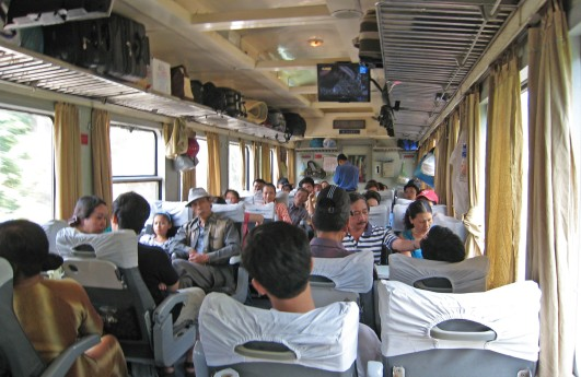 Onboard the Reunification Express