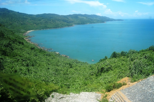 Coastal view Hue to Da Nang by train