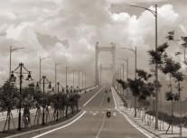 Approaching Thuan Phuoc Bridge
