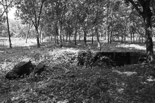Concrete remnant, 1ATF camp, Nui Dat, Vietnam