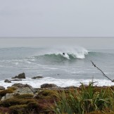 We were surprised to come across a few surfers game enough to tackle this rocky and remote coastline