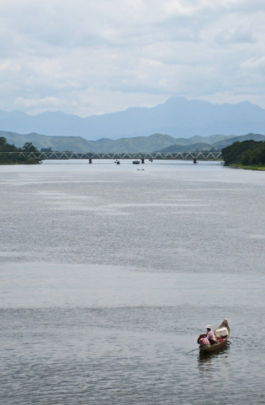 Looking west along the Perfume River from the Phu Xuan bridge