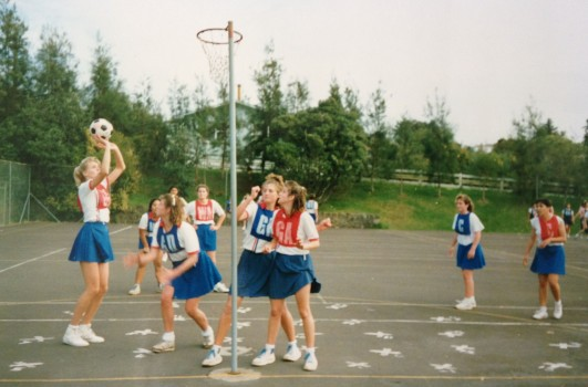 In 1998 back when they were netball courts