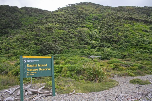 Kapiti Island sign