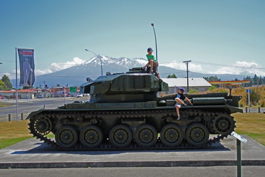 Boys, tank, mountain