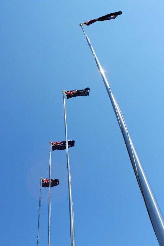 Waiouru Army Museum flagpoles