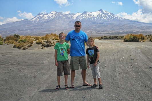 Boys and Ruapehu
