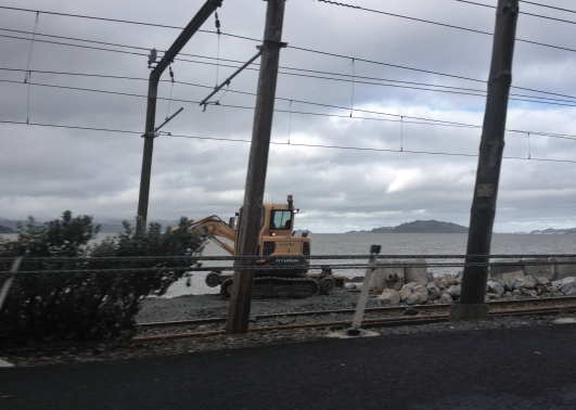 Repairs underway to the main railway link between the Hutt Valley and Wellington City
