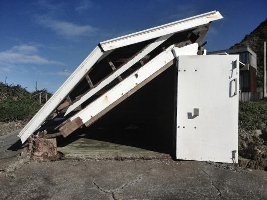 Boat shed at Breaker Bay
