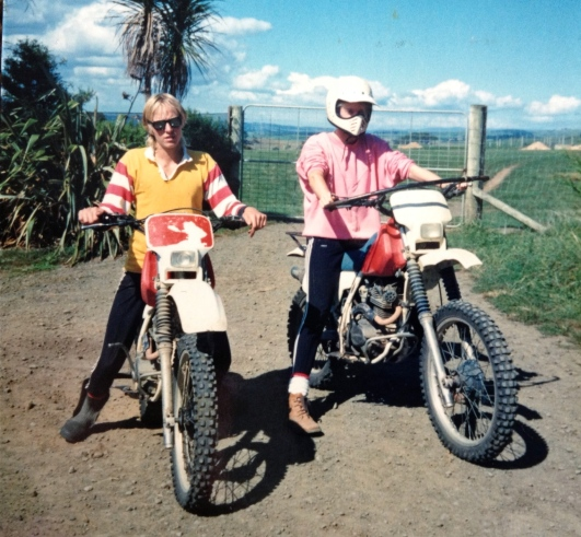Flashback: My brother and I at the end of the right-of-way outside our old house. We would often grab one of the bikes and head across the farm or up the road