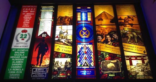Waiouru Army Museum stained glass windows