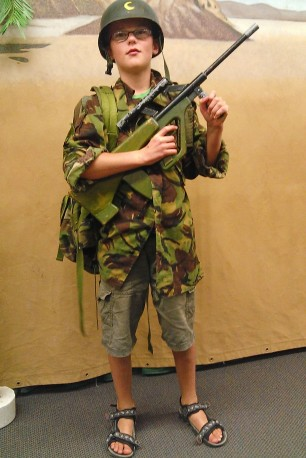 Waiouru Museum, childrens' dress-up