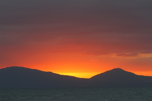Hatepe sunset, Lake Taupo