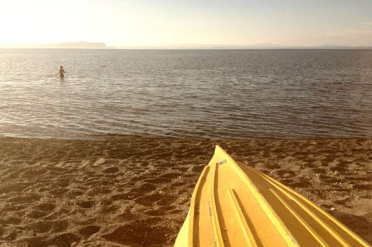 Lake Taupo shoreline