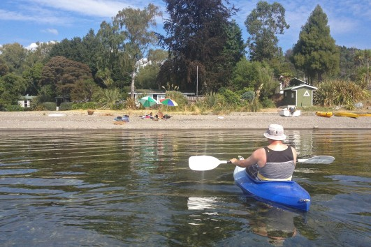 Kayaking on Lake Taupo