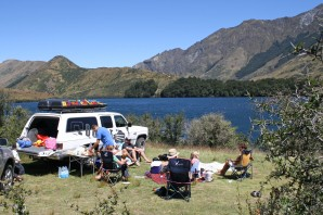 Picnic at Moke Lake, 15 mins south-west of Queenstown