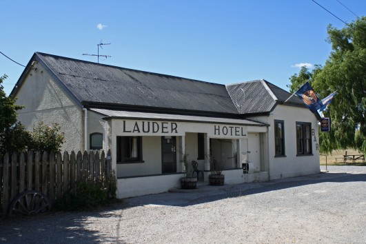 The 1904 railway hotel at Lauder was our lodging for the night. When rail passenger numbers started to diminish, the hotel was turned 180 degrees to face the road