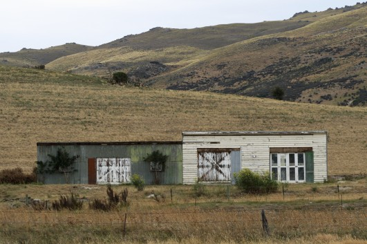 Old sheds, Hyde, Otago